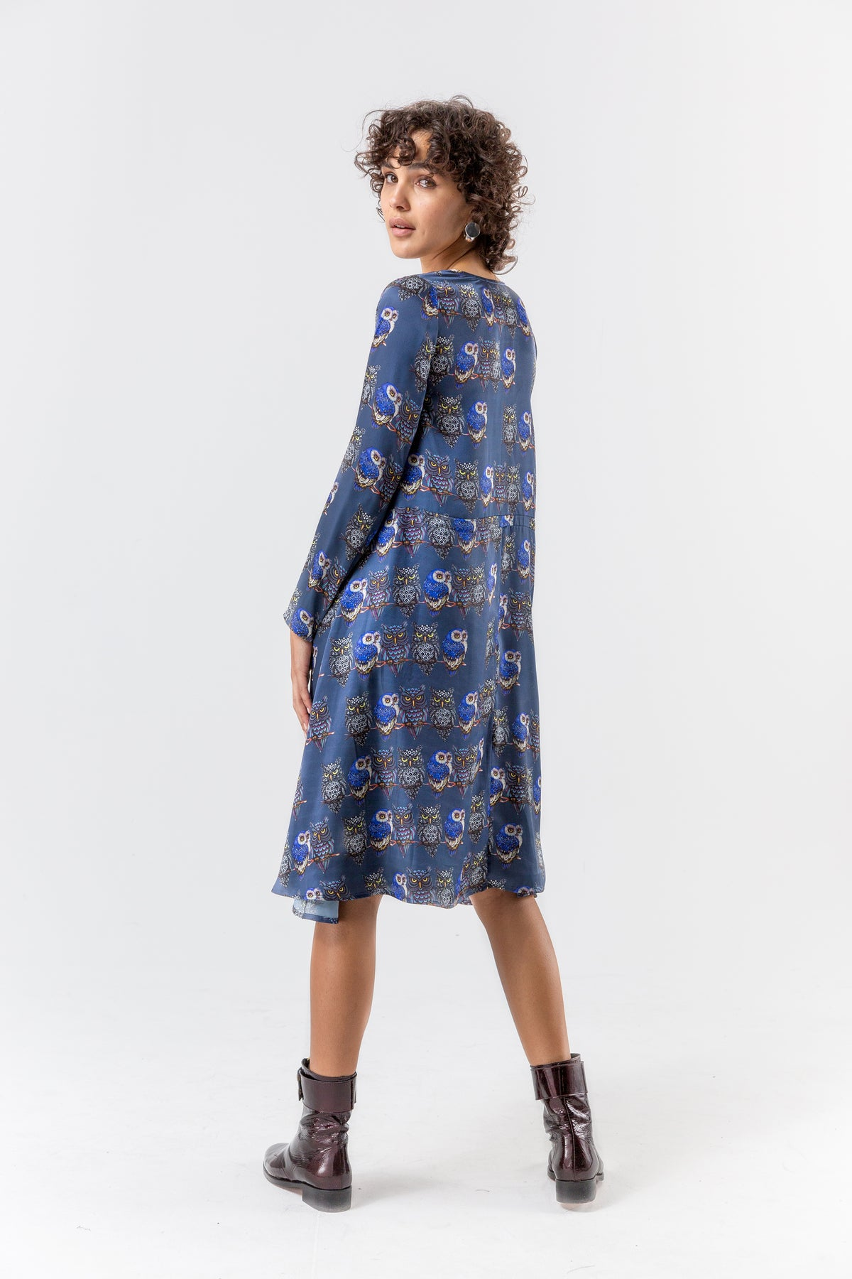 Java dress in owl print