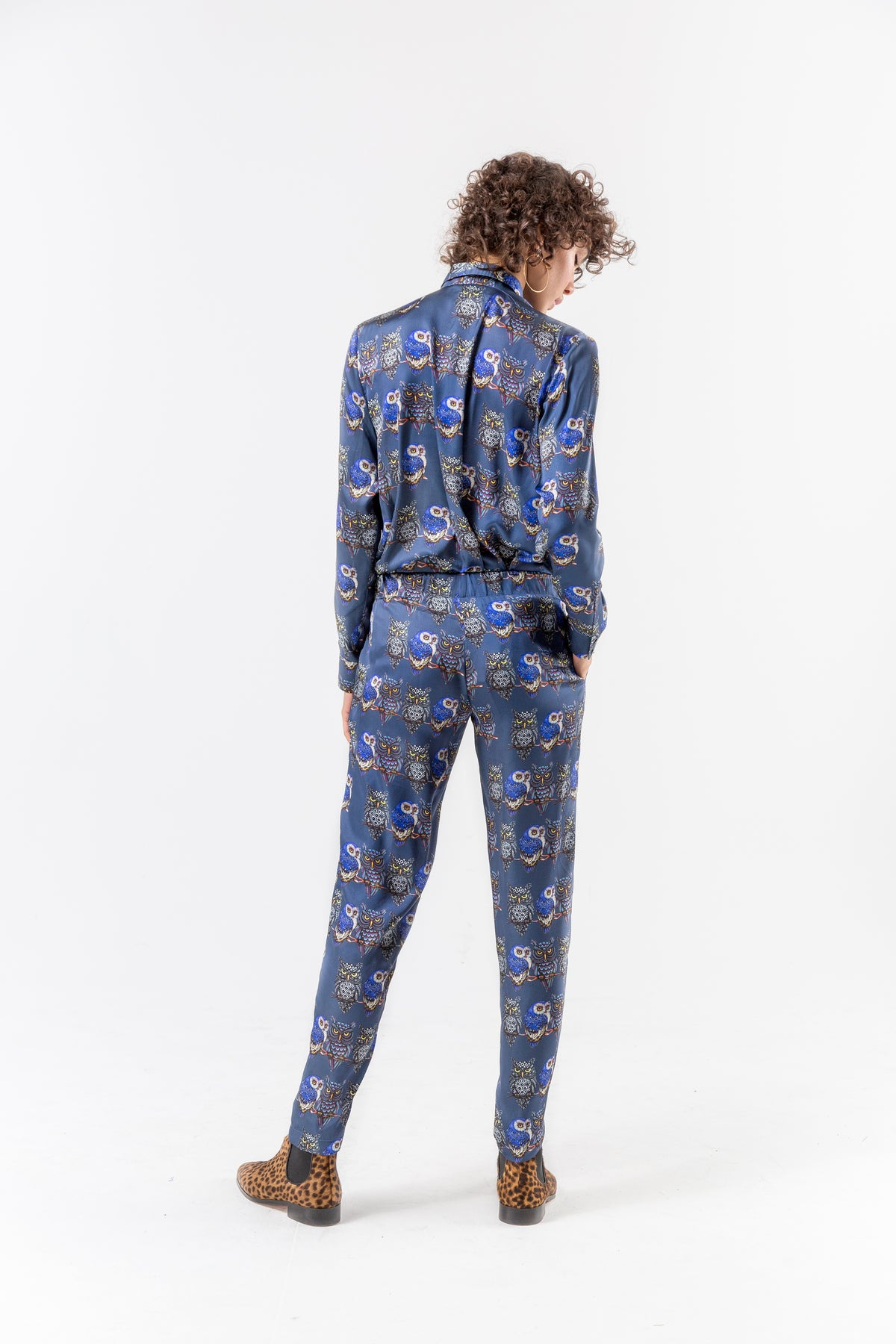 Melchior pants in owl print