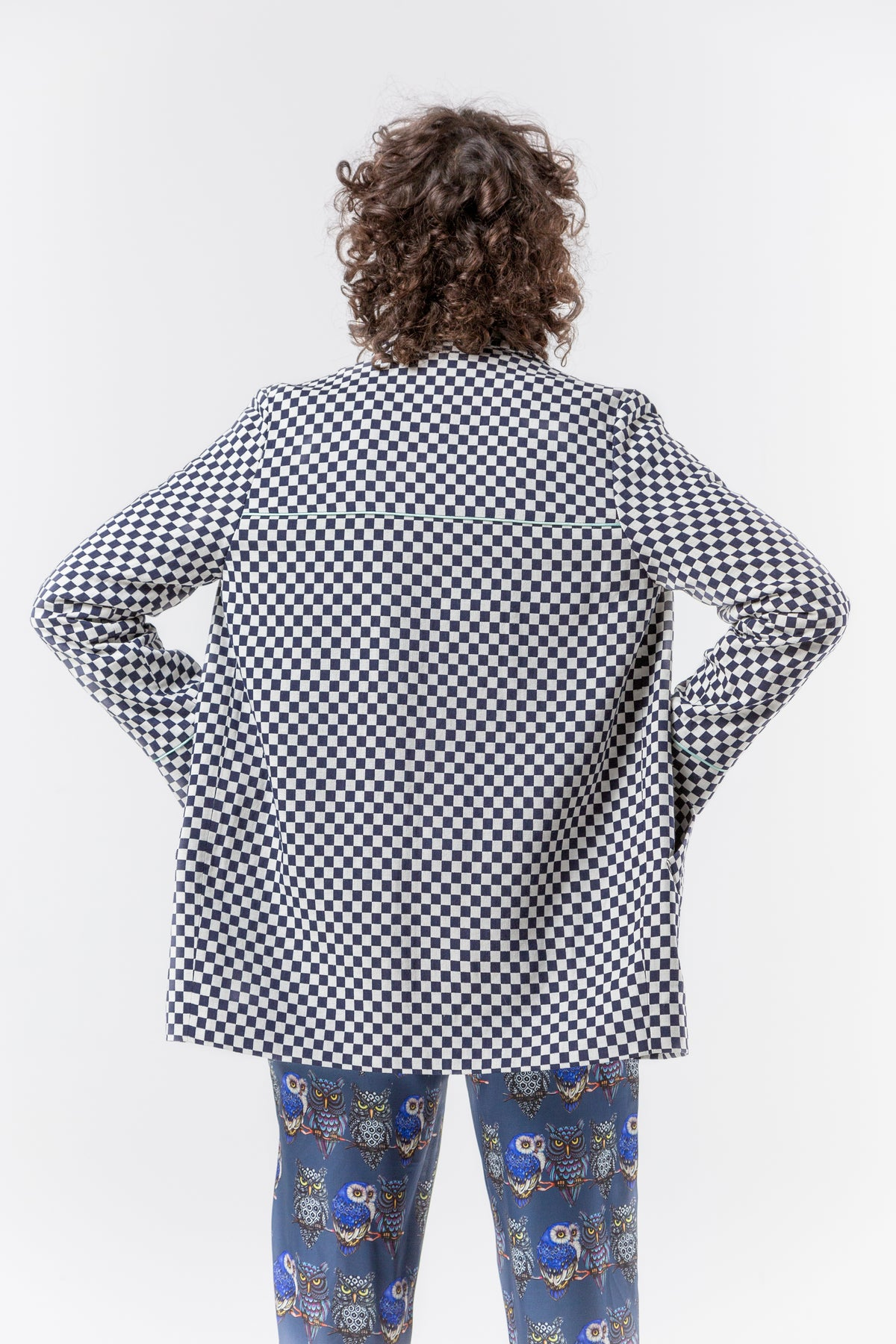 Tichy coat in chequered jacquard