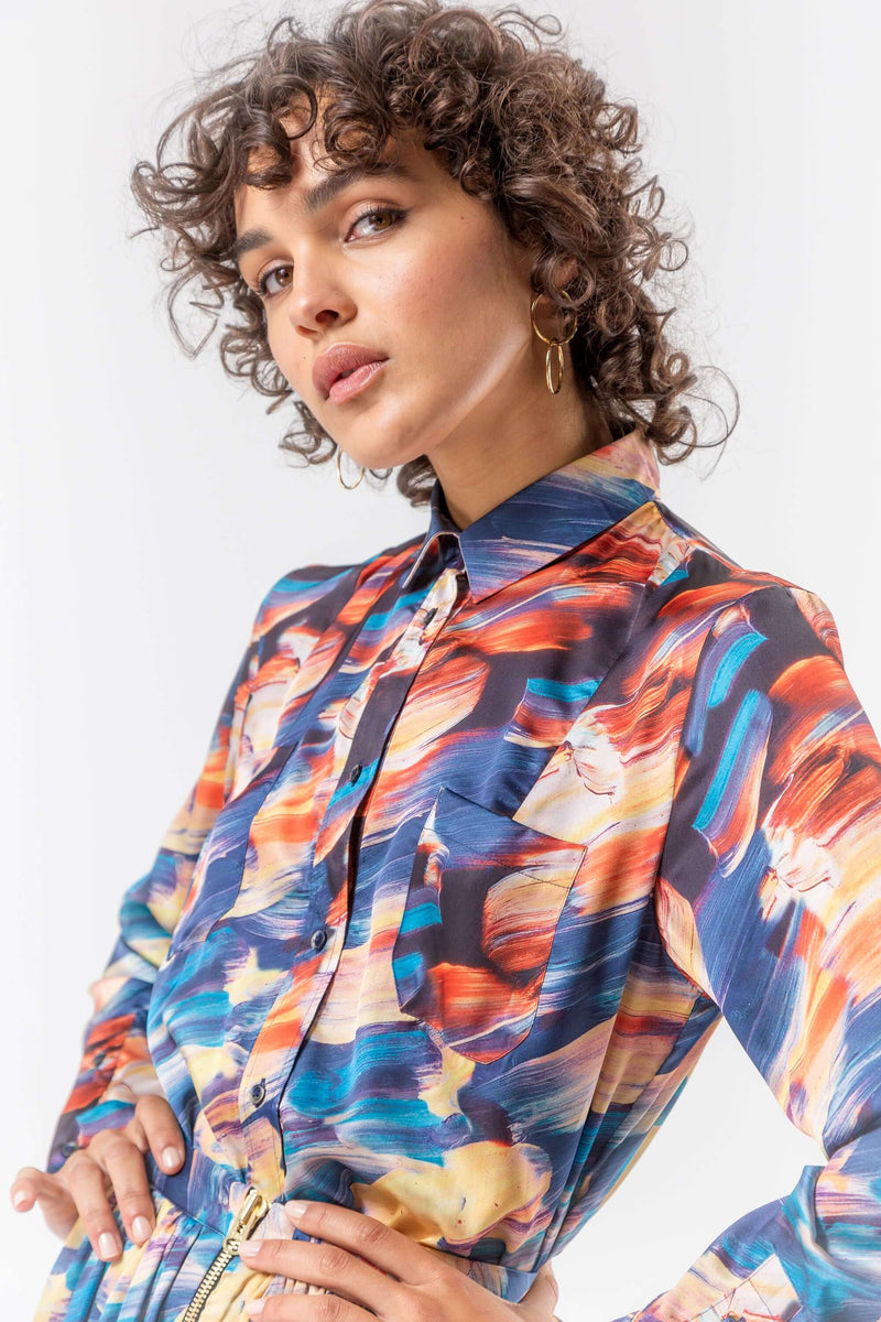 Dori shirt in ivresse print