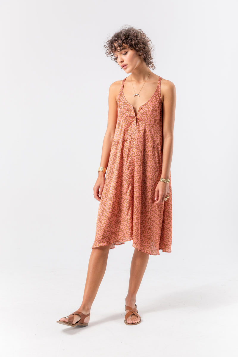 Java dress in messy dots print