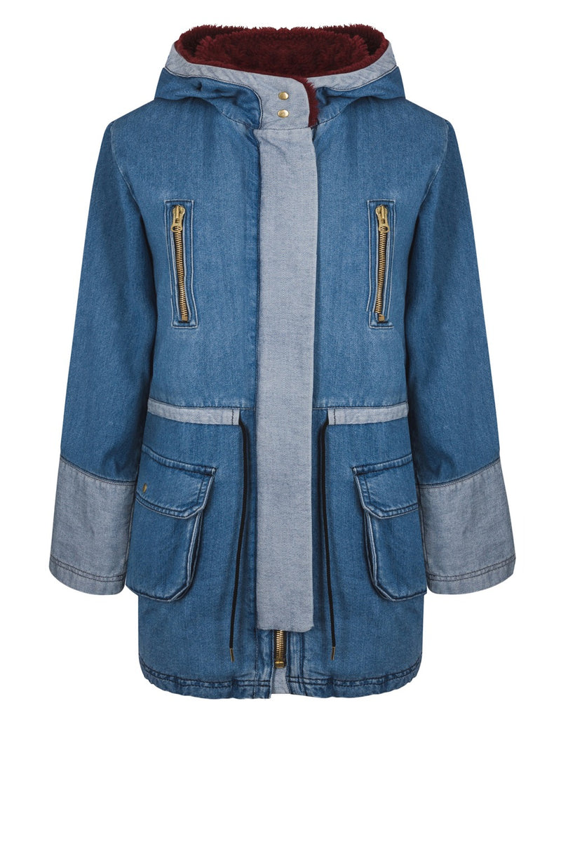 Jacobs parka in blue denim