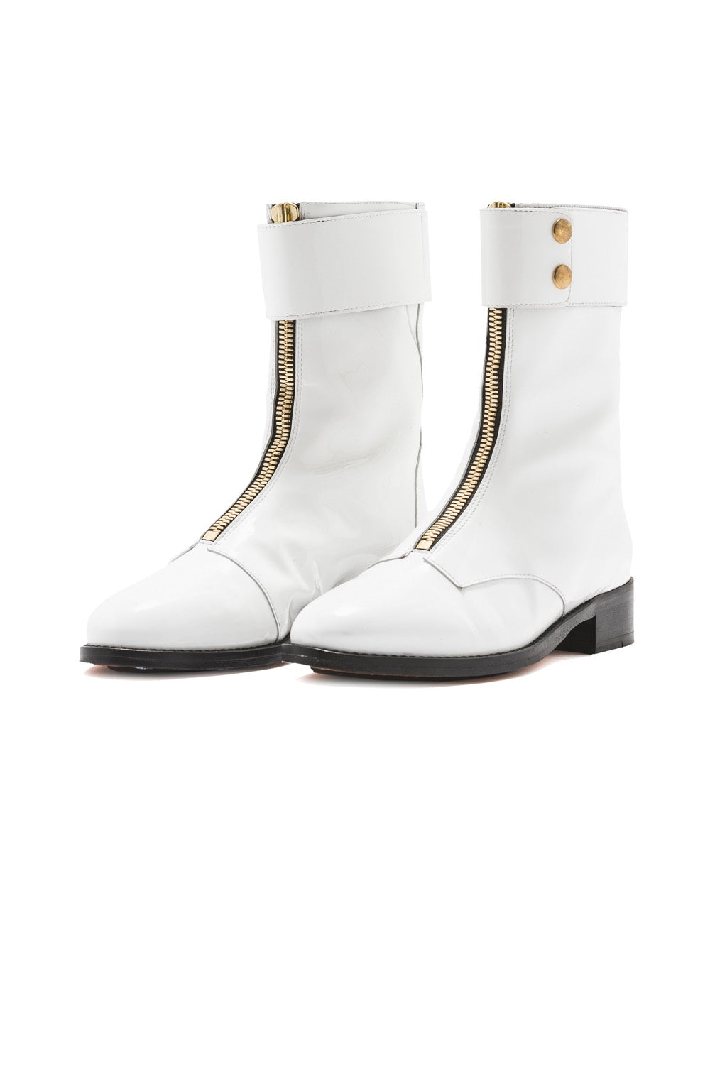 Woodstock ranger boots in white leather