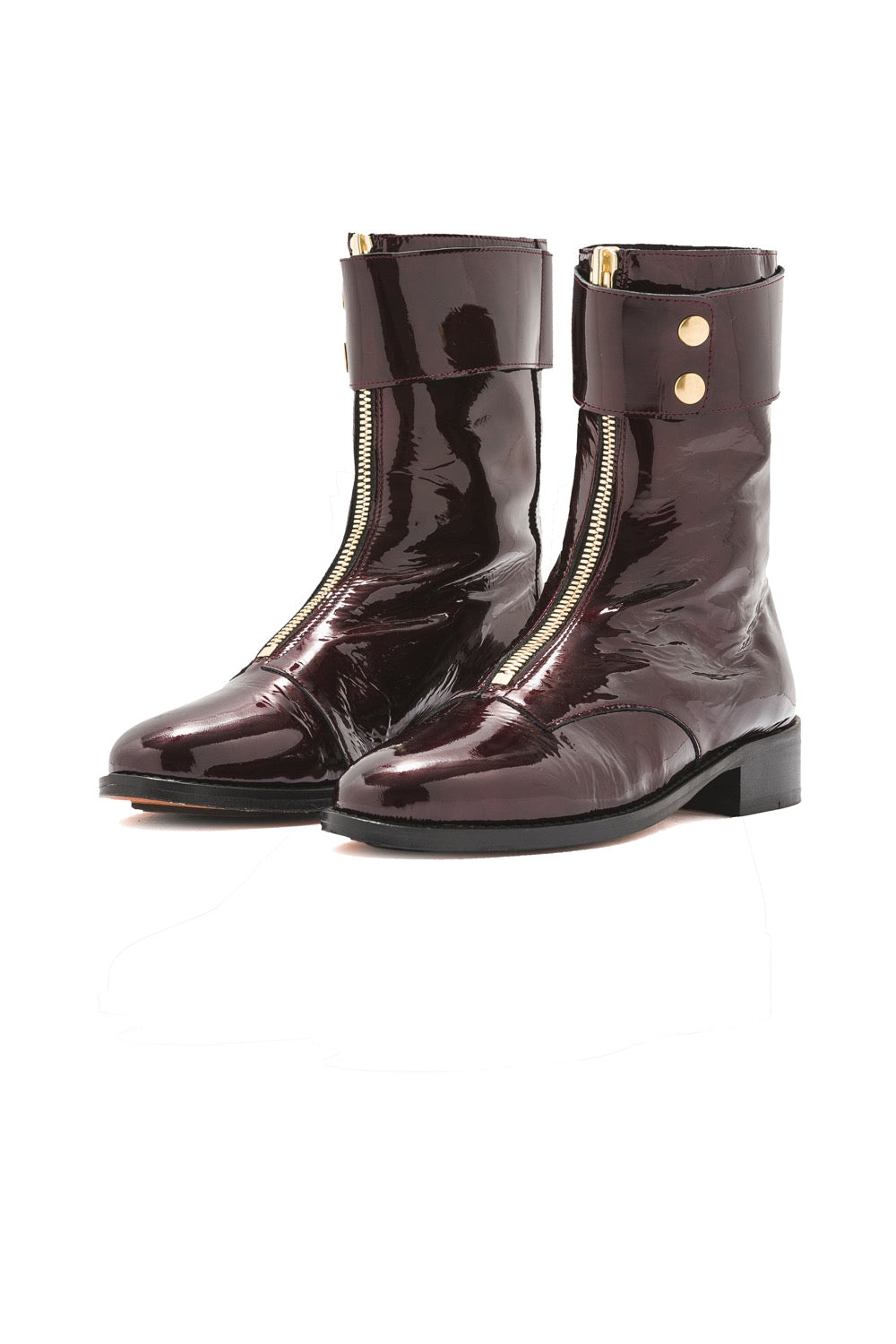 Woodstock ranger boots in burgundy leather