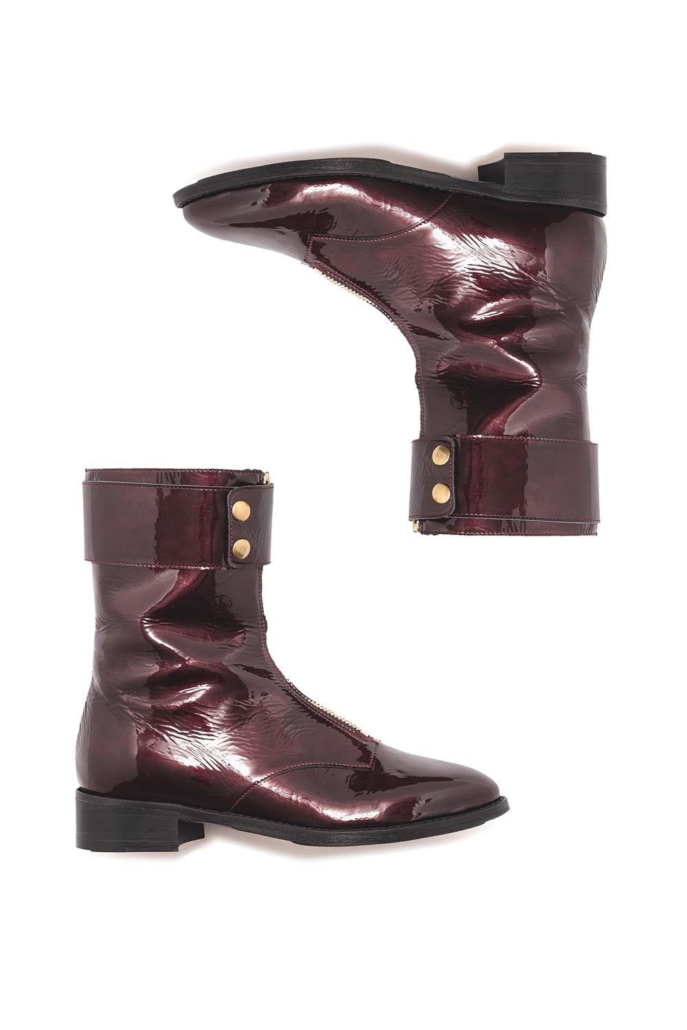 Woodstock Rangers boots in burgundy leather