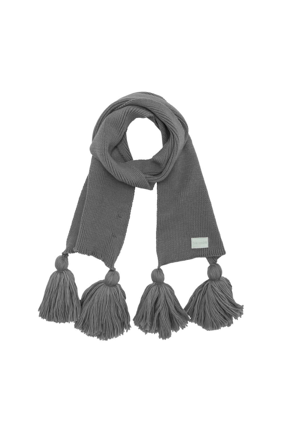 Ellis scarf in grey knit