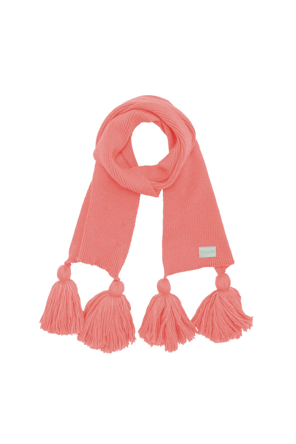Ellis scarf in pink knit
