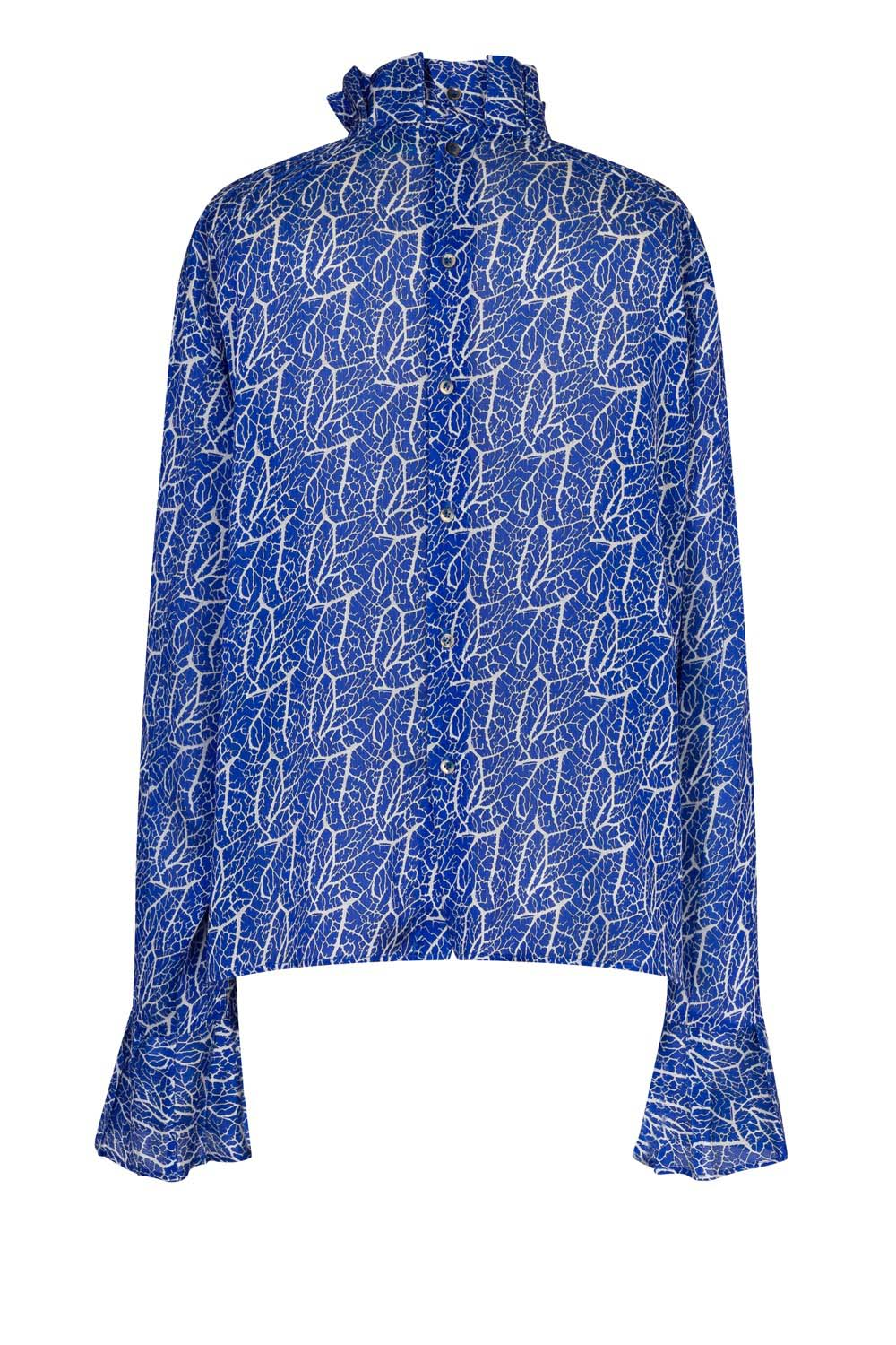 Muse shirt in crépine print