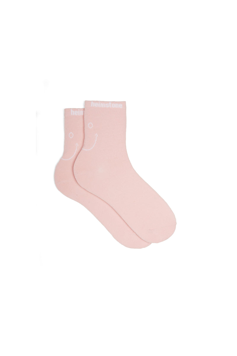 Ankle socks in Pink Smiley