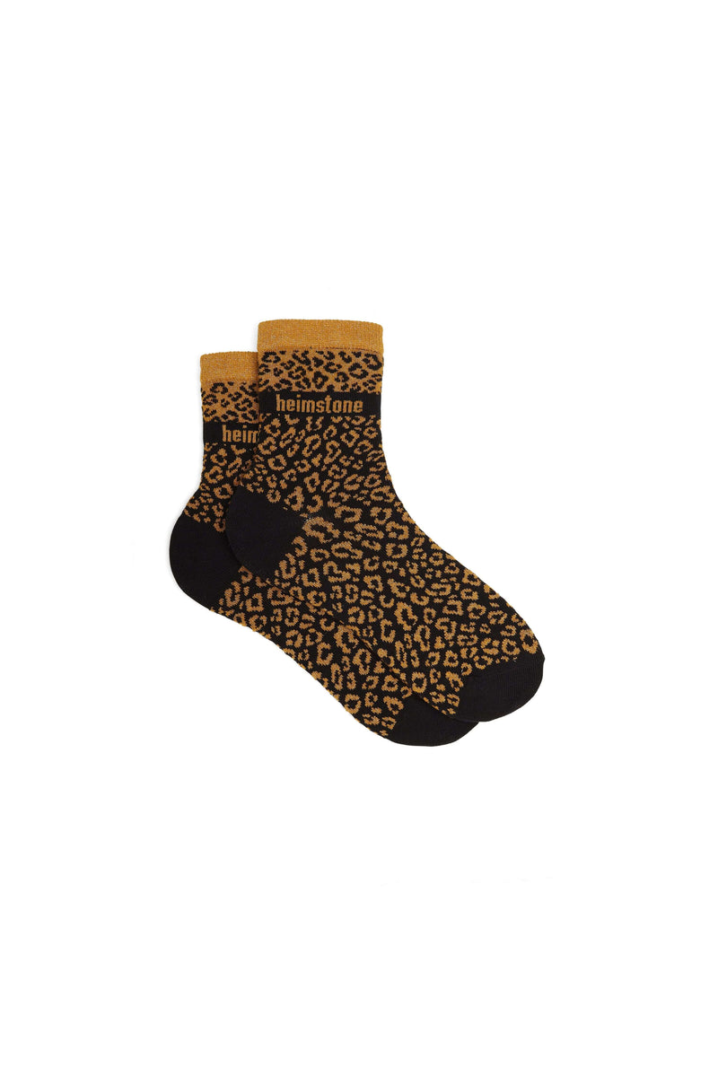 Ankle socks in leopard print