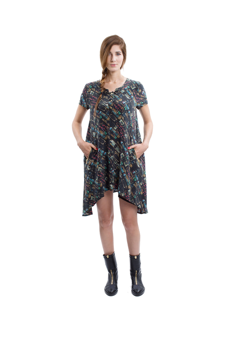Mulbery dress in liner print