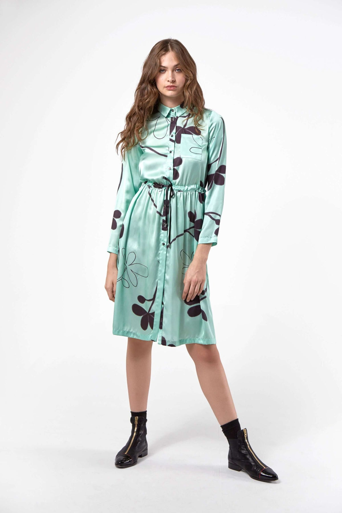 Edison dress in clover print