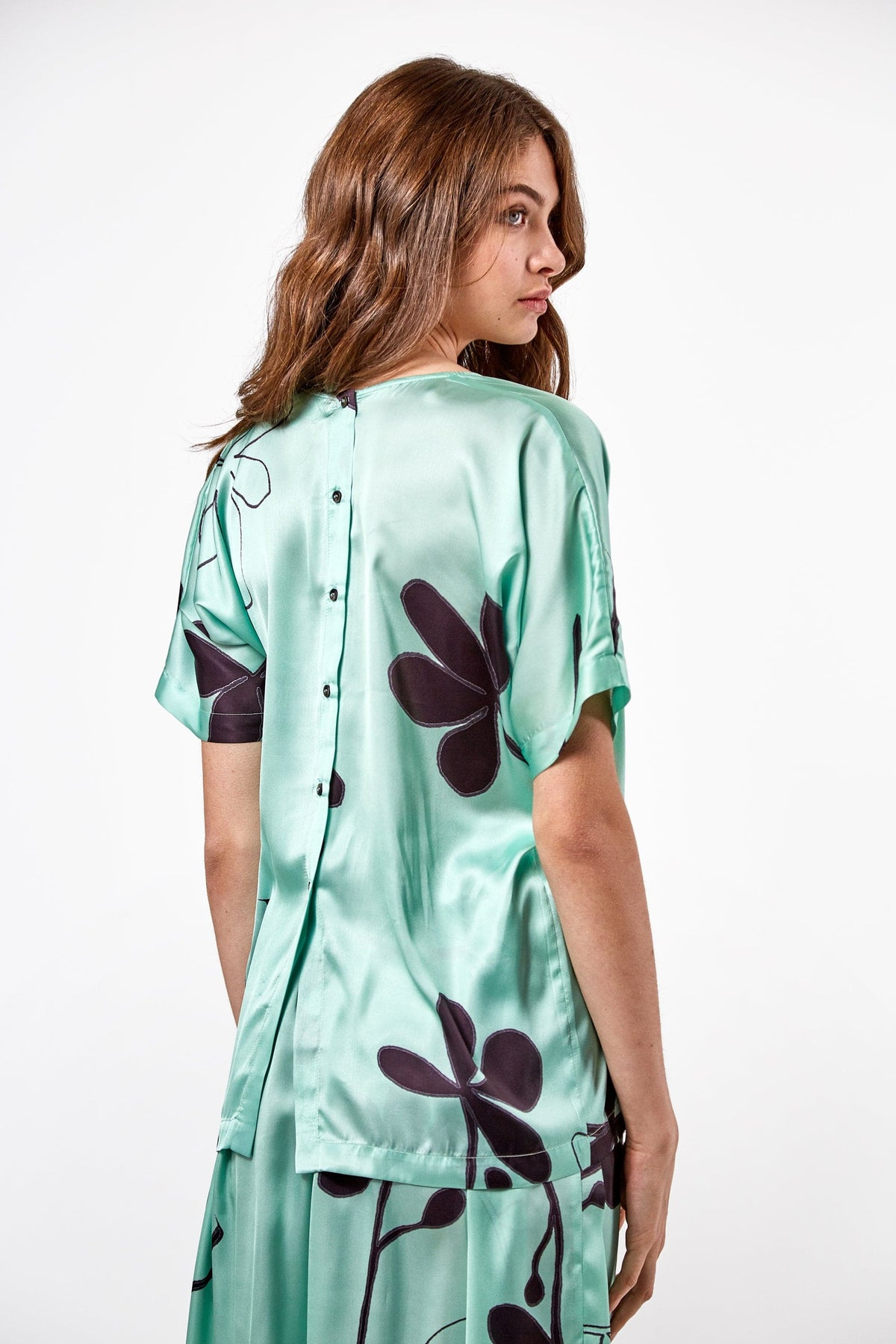 Wallace t-shirt in clover print