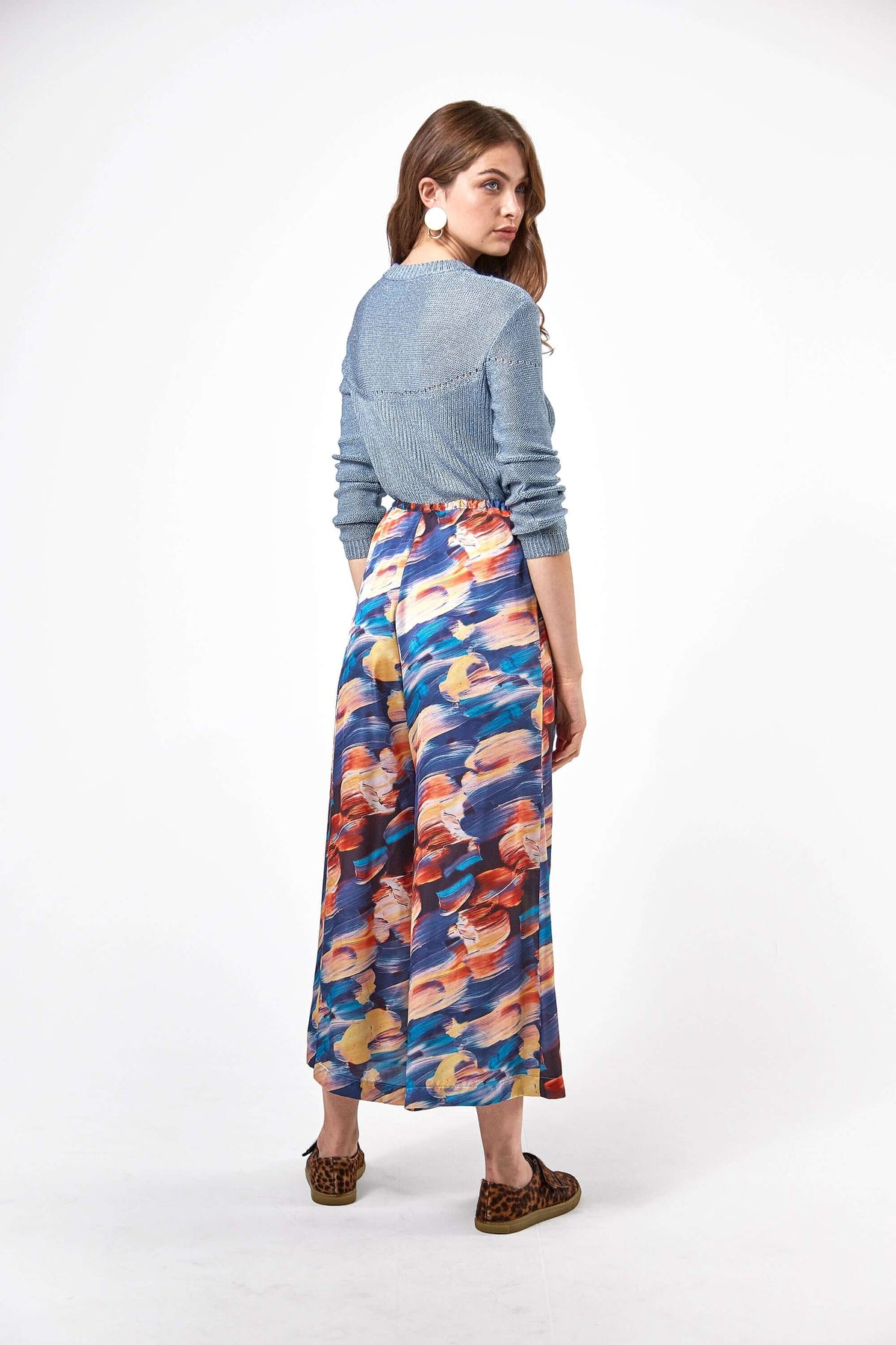 Doll pants in ivresse print