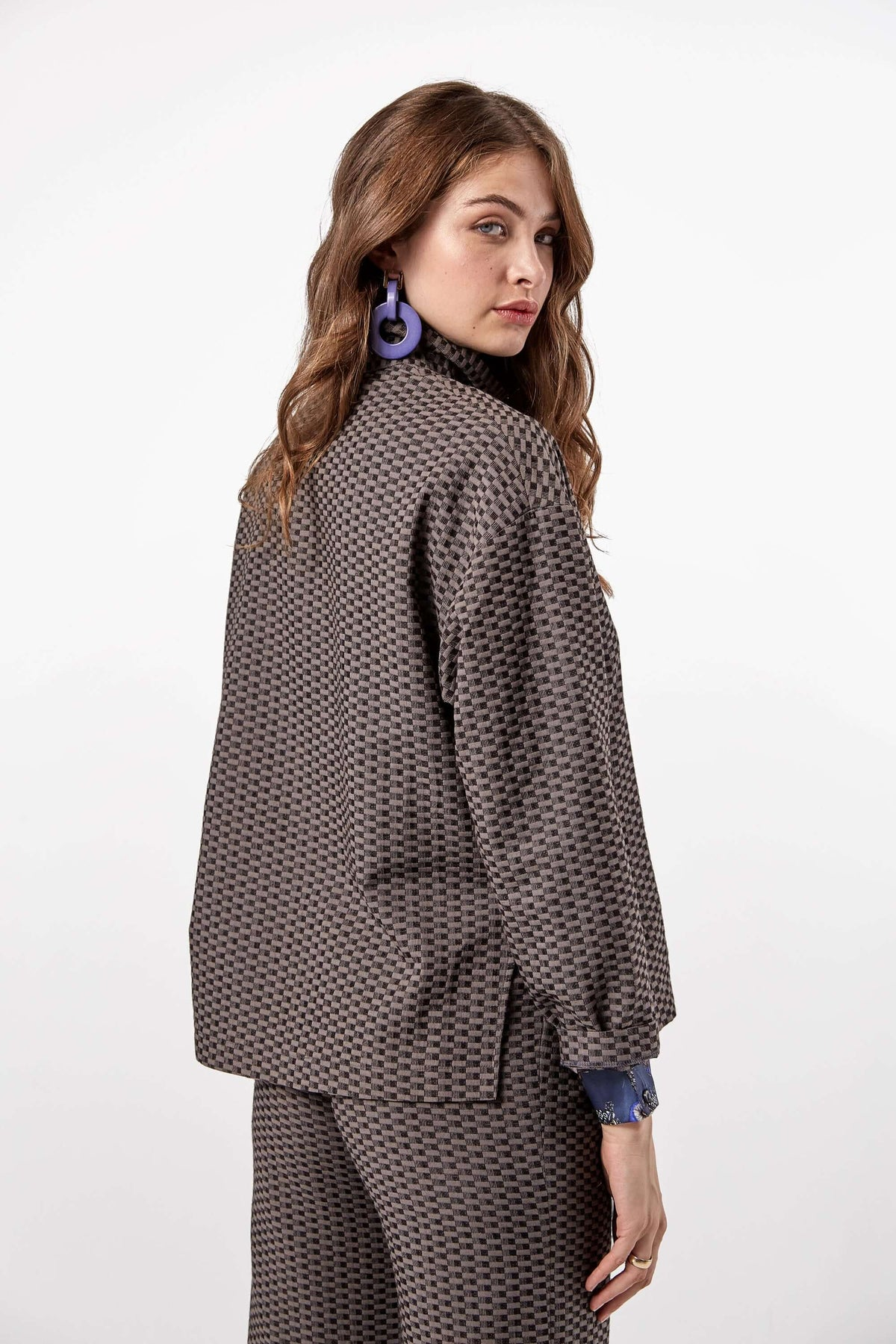 Bobbi sweater in tatami jacquard