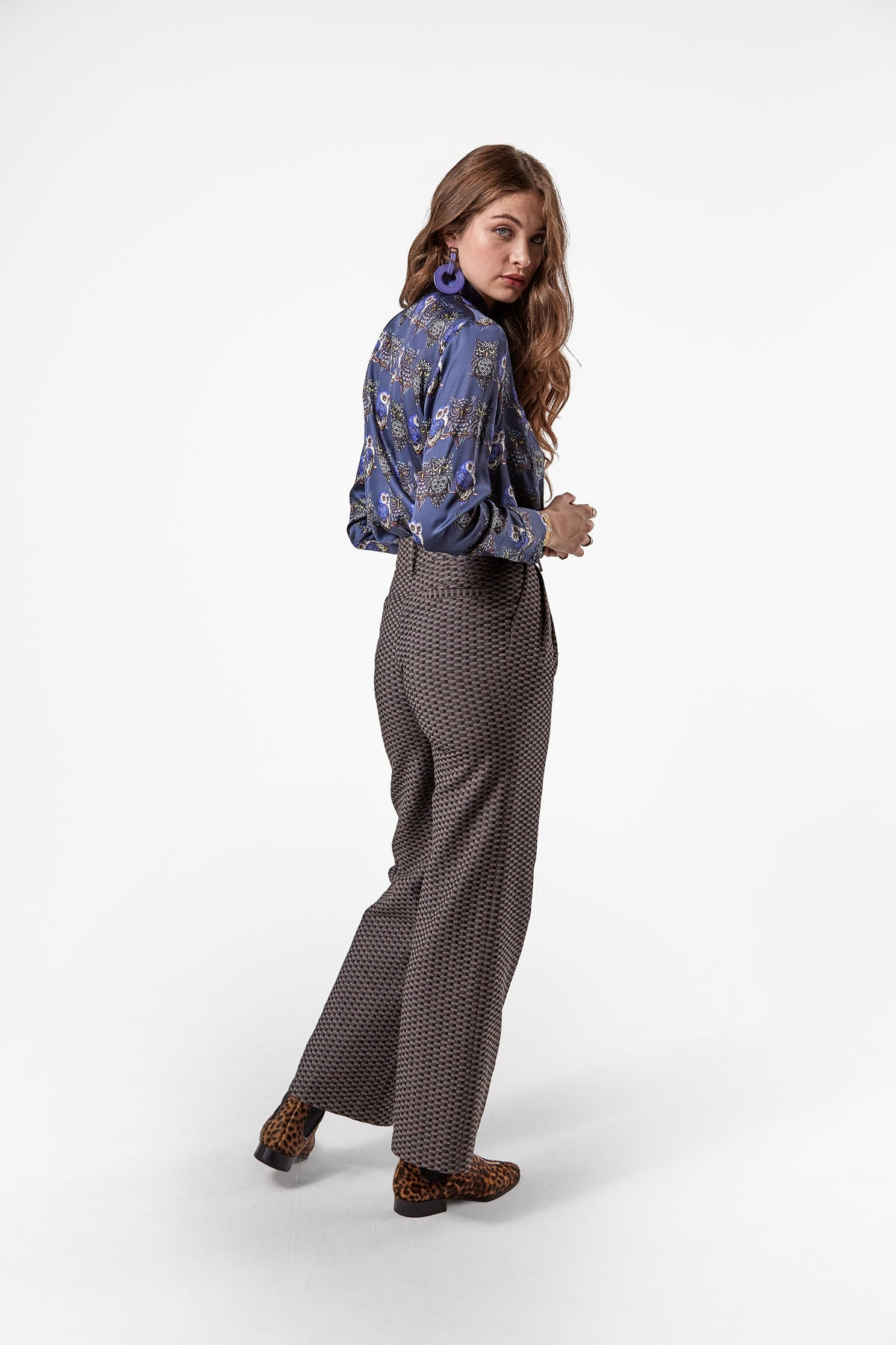 Moor pants in tatami jacquard