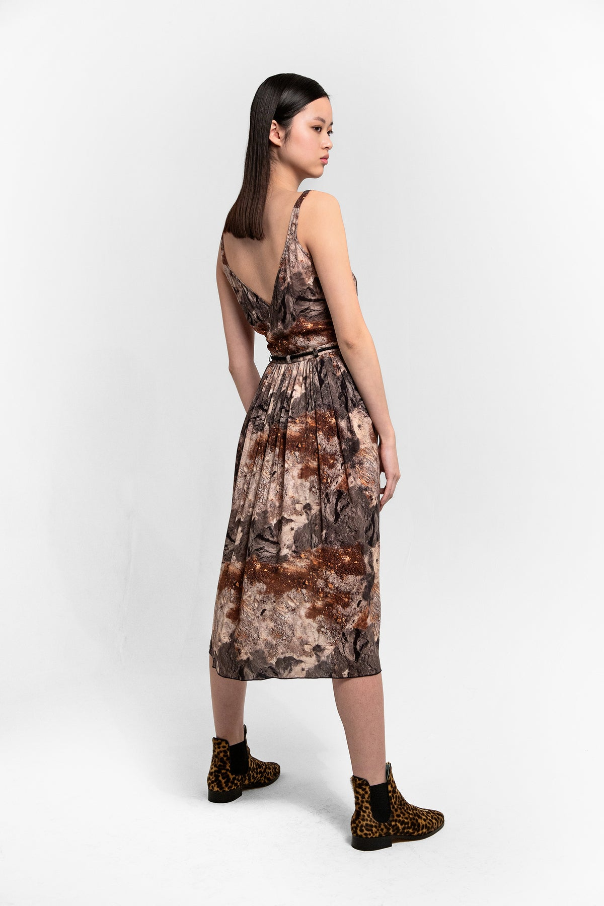 Orso dress in concrete print