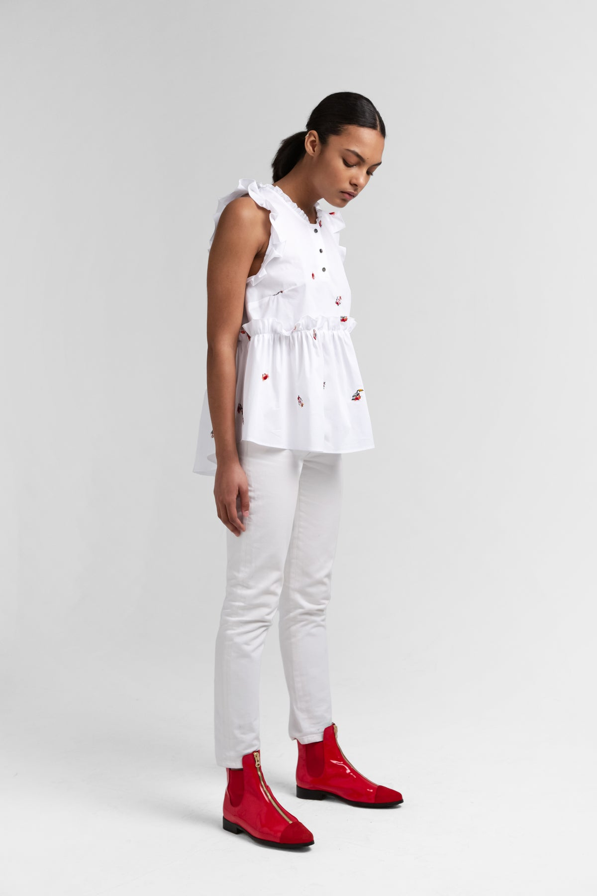 Kaya shirt in pirate embroideries