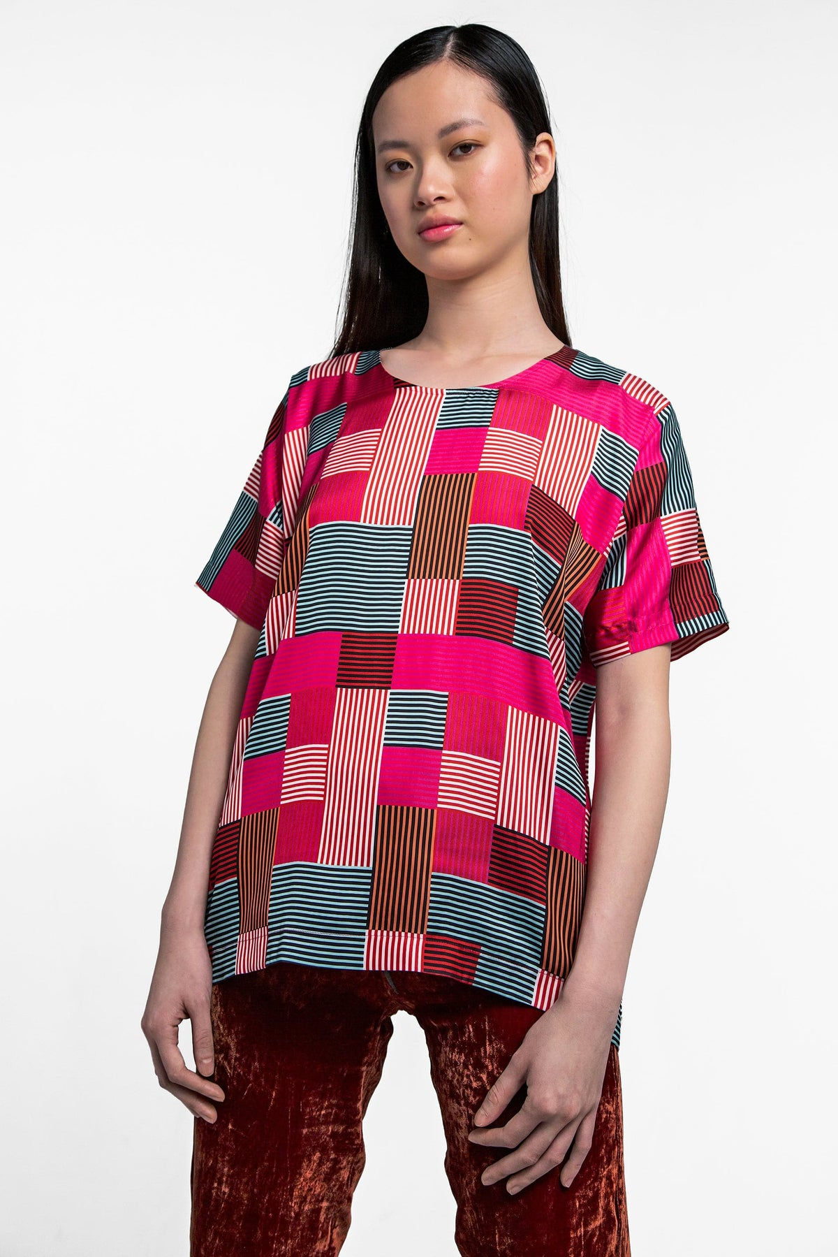 Wallace t-shirt in geometry print
