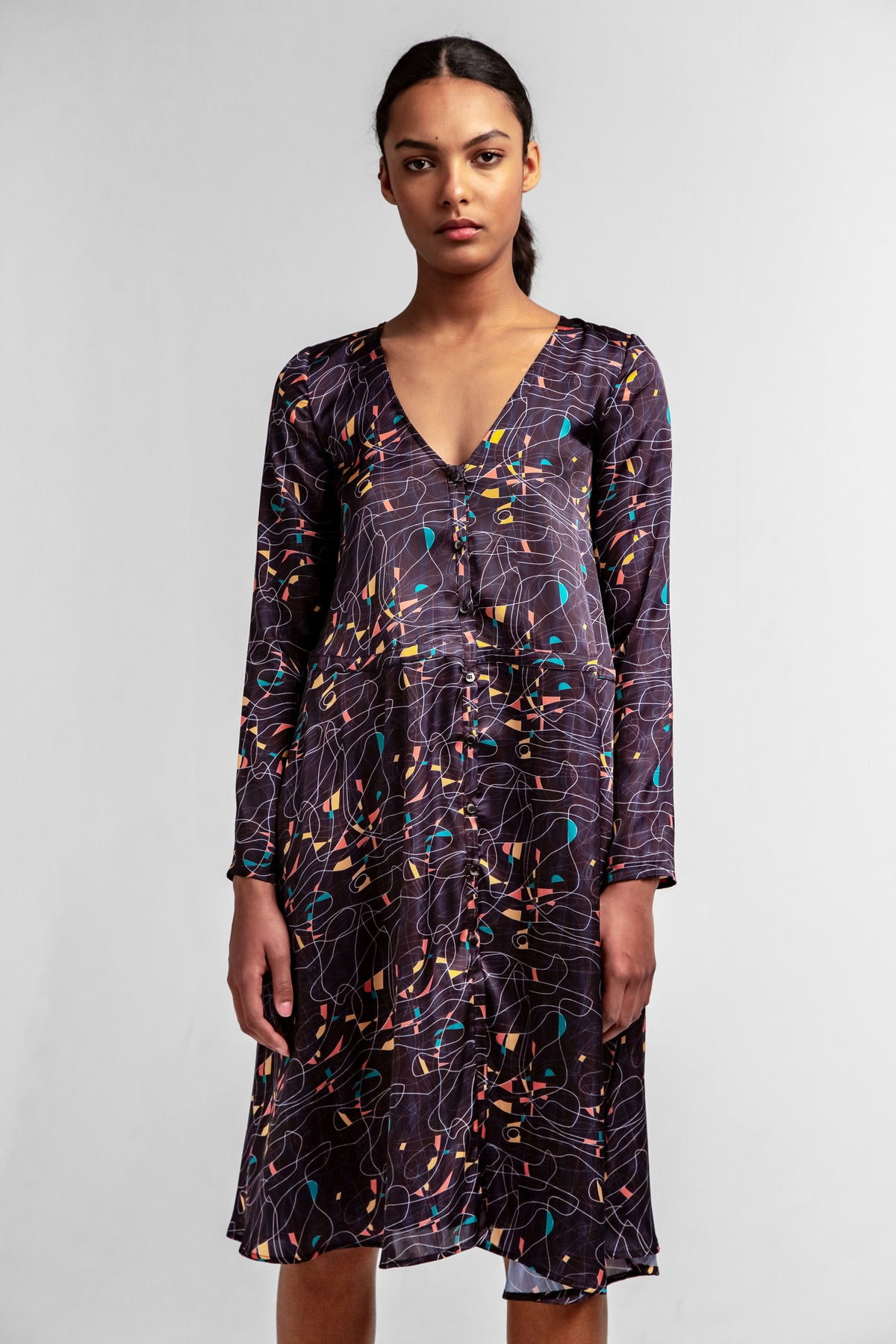 Java dress in reflections print
