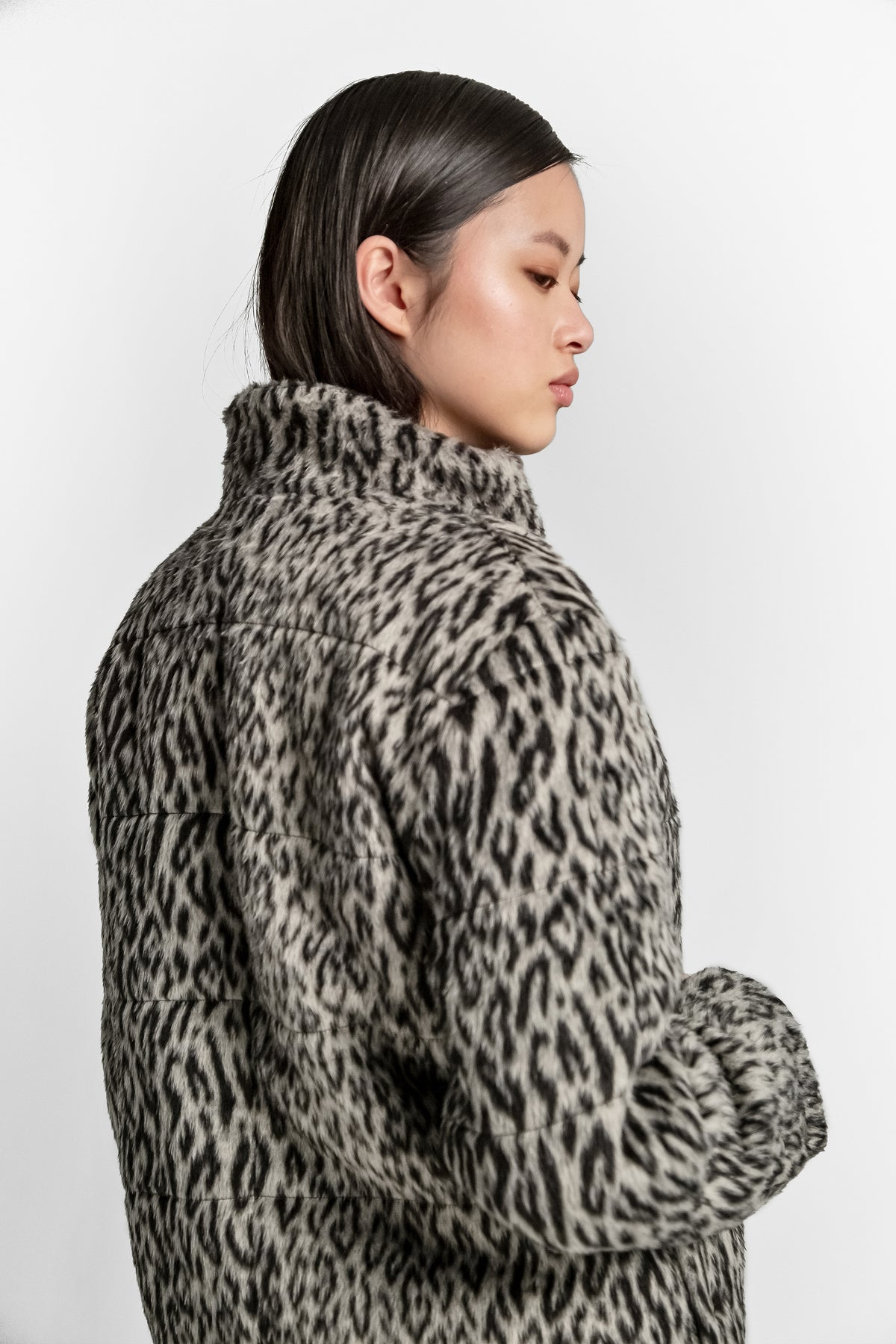 Idol jacket in leopard woolen