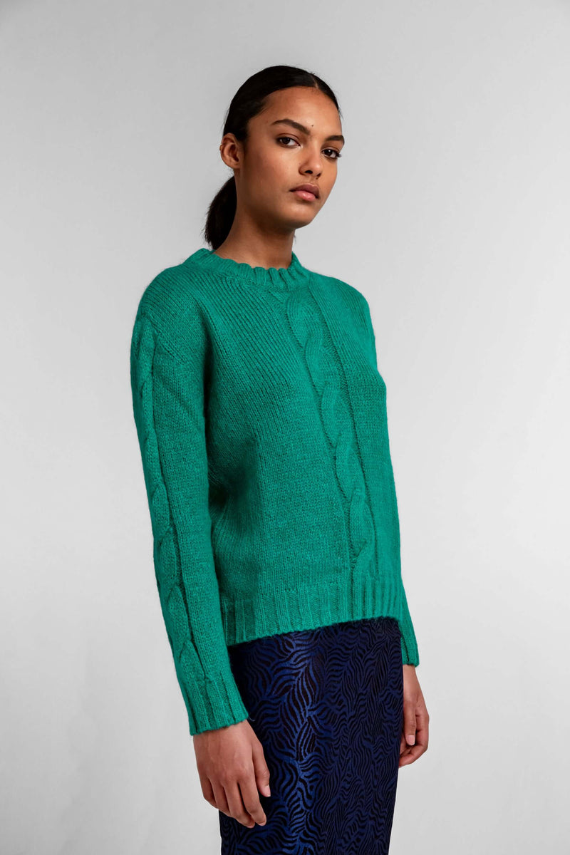 Ellis sweater in emeraude knit