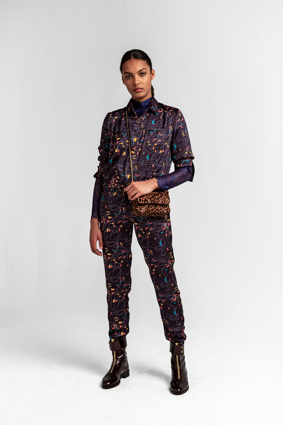 Melchior pants in reflections print