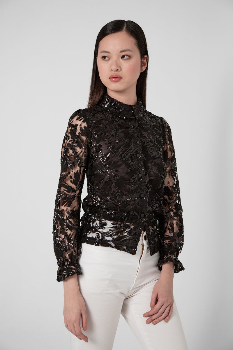 Joan blouse in Ermes lace