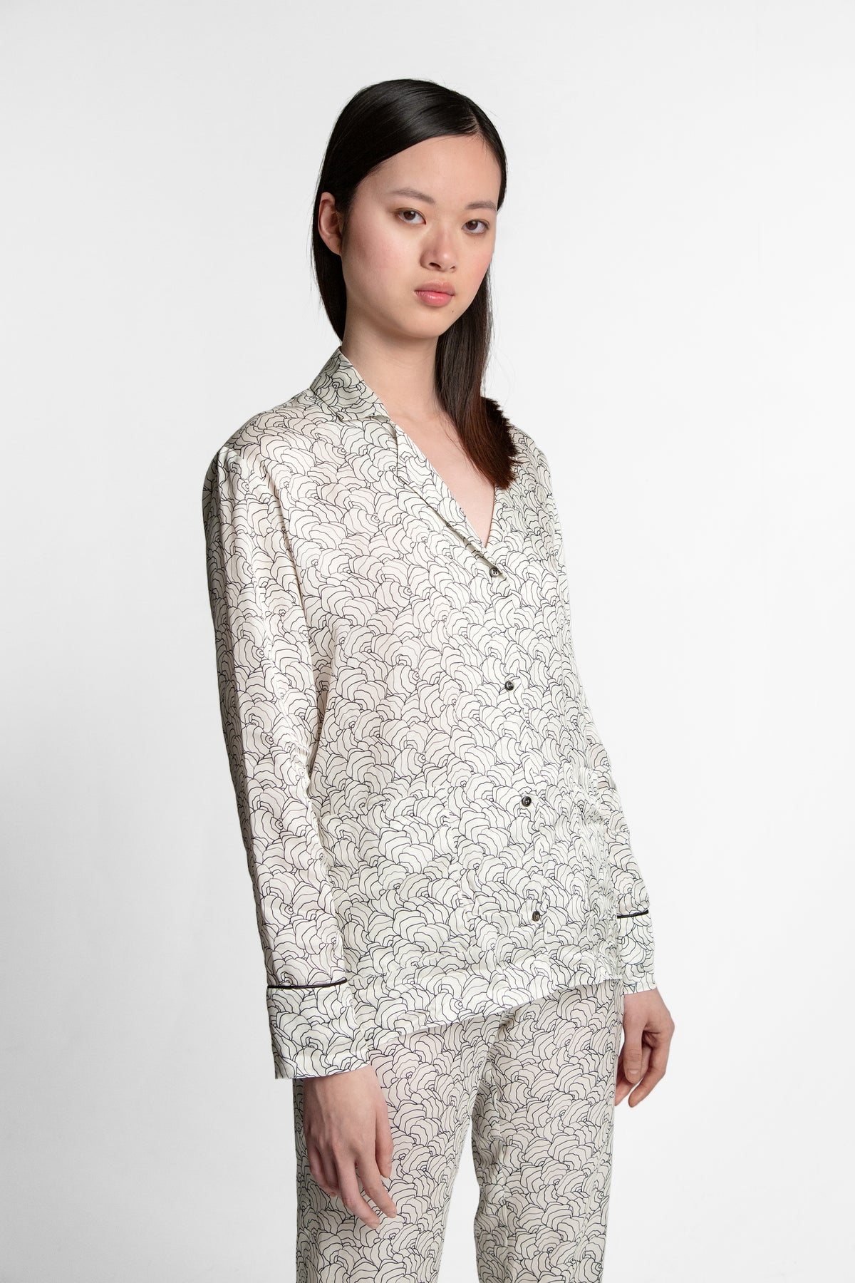 Ulysse pyjama in Three Seven print
