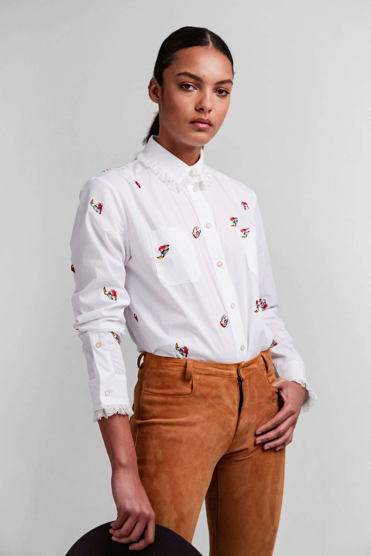 Dori shirt in pirate embroideries