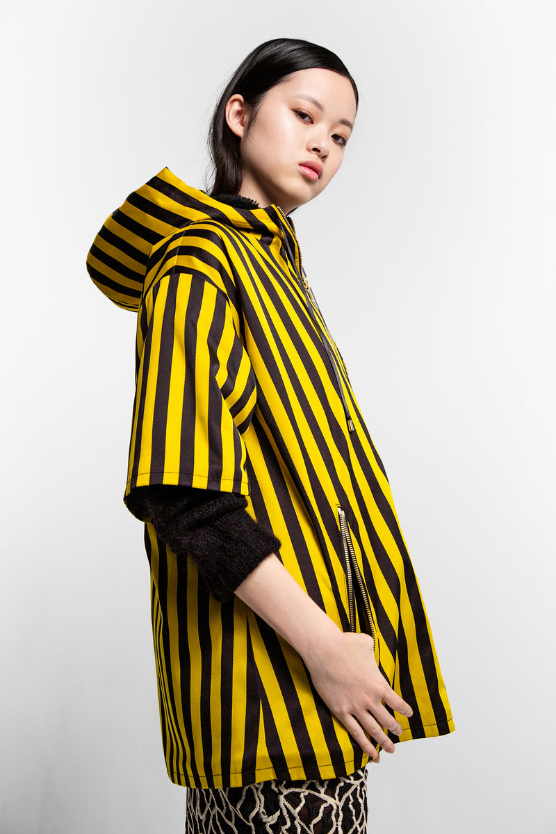 Lolita parka in bee stripes