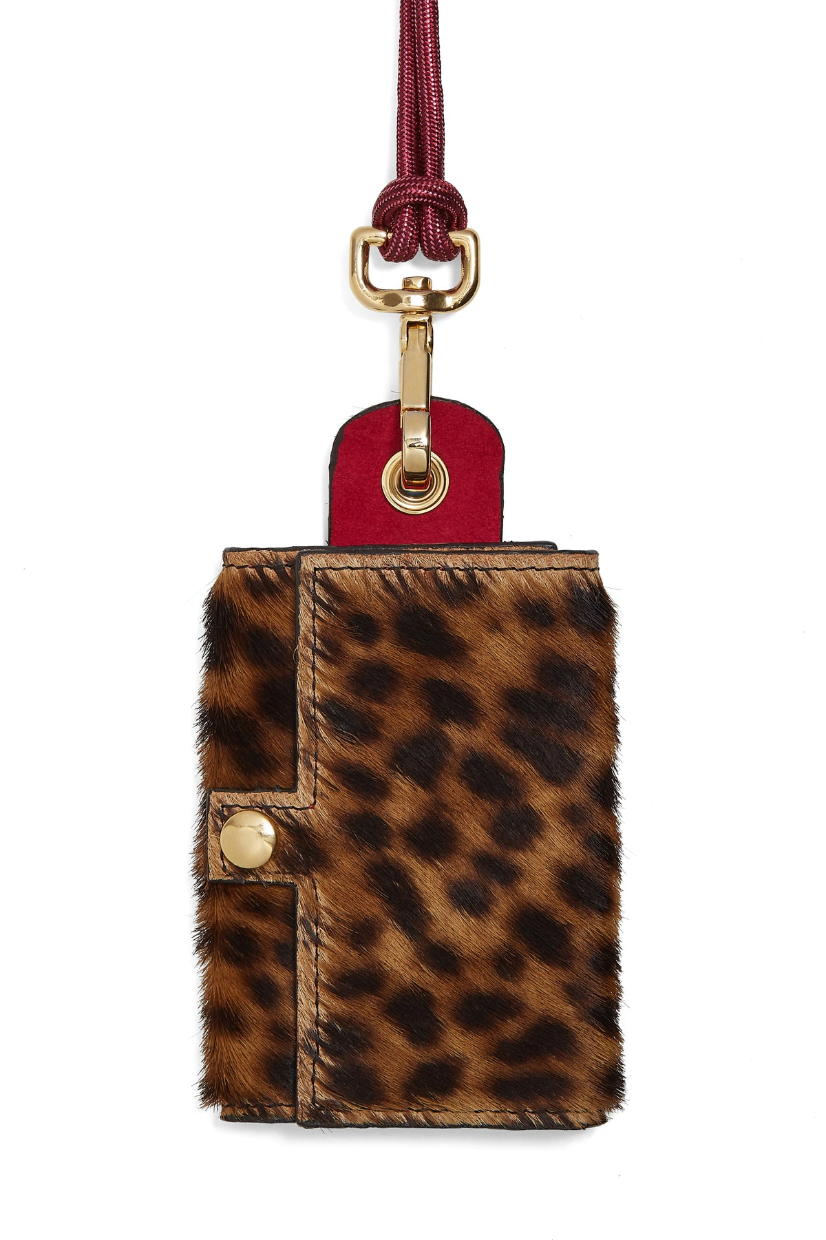 The Minis - 6 Key Holder in Leopard leather