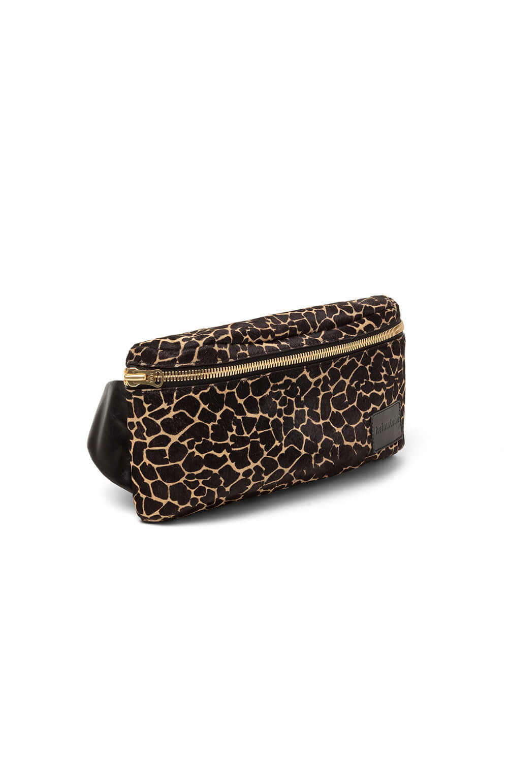 Fanny pack in girafe printed leather