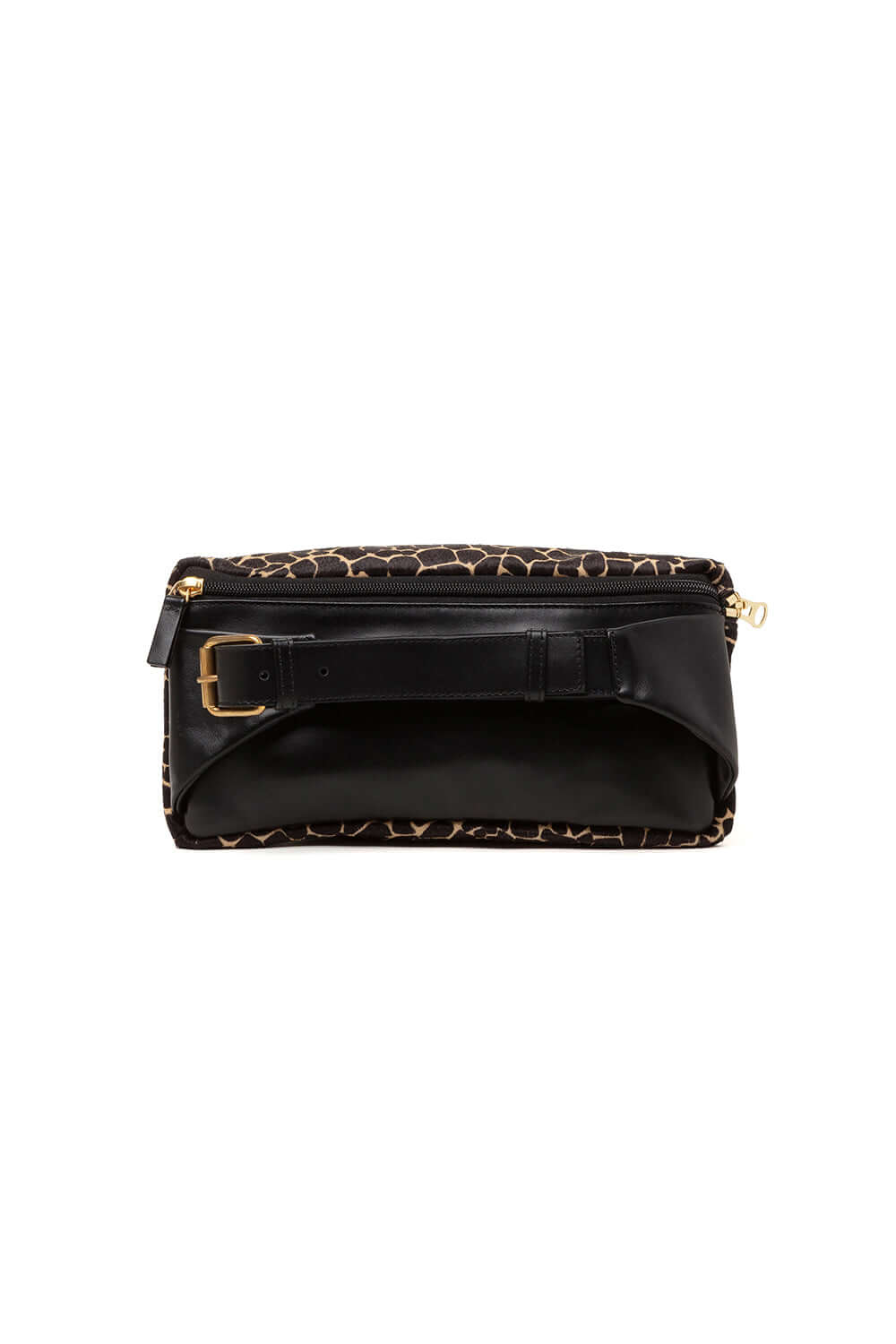 Fanny pack in giraffe printed leather