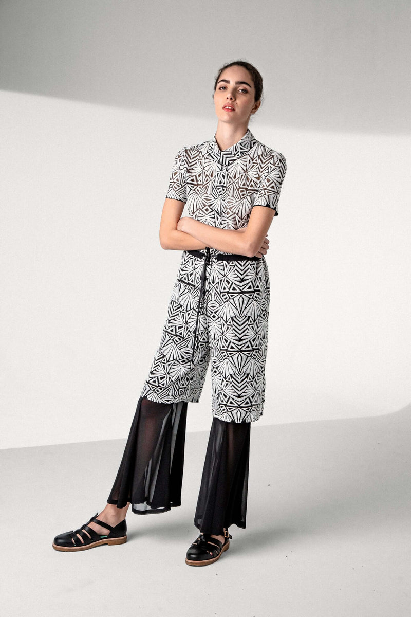 Bambou jumpsuit in embroidered voile