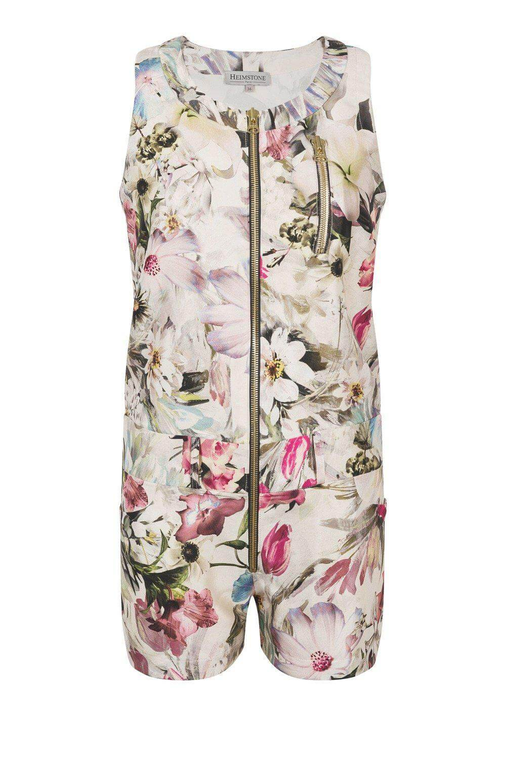 Beetle playsuit in floral canvas