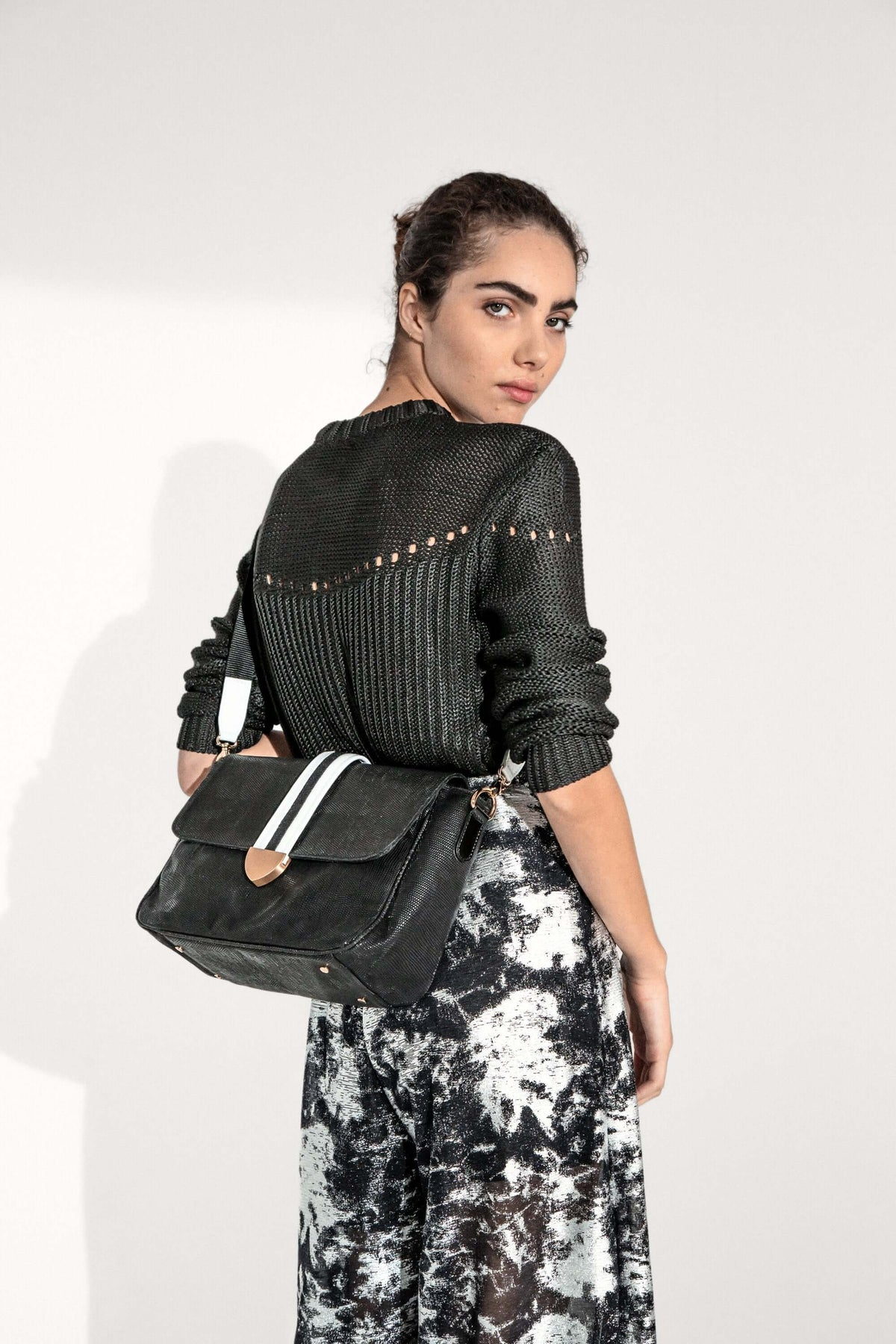 Charlie handbag in black leather