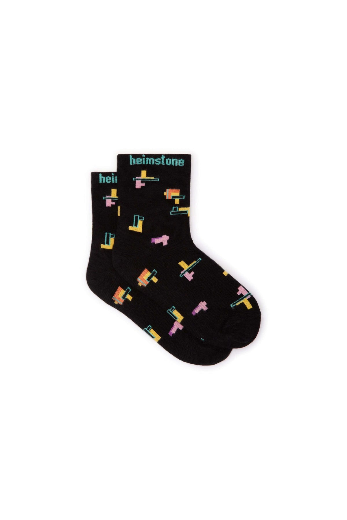 Ankle socks in Tetris print