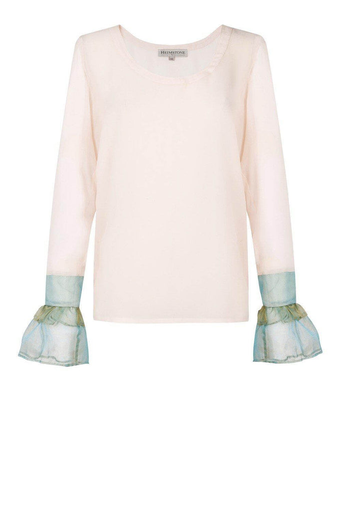 Come t-shirt in blush silk