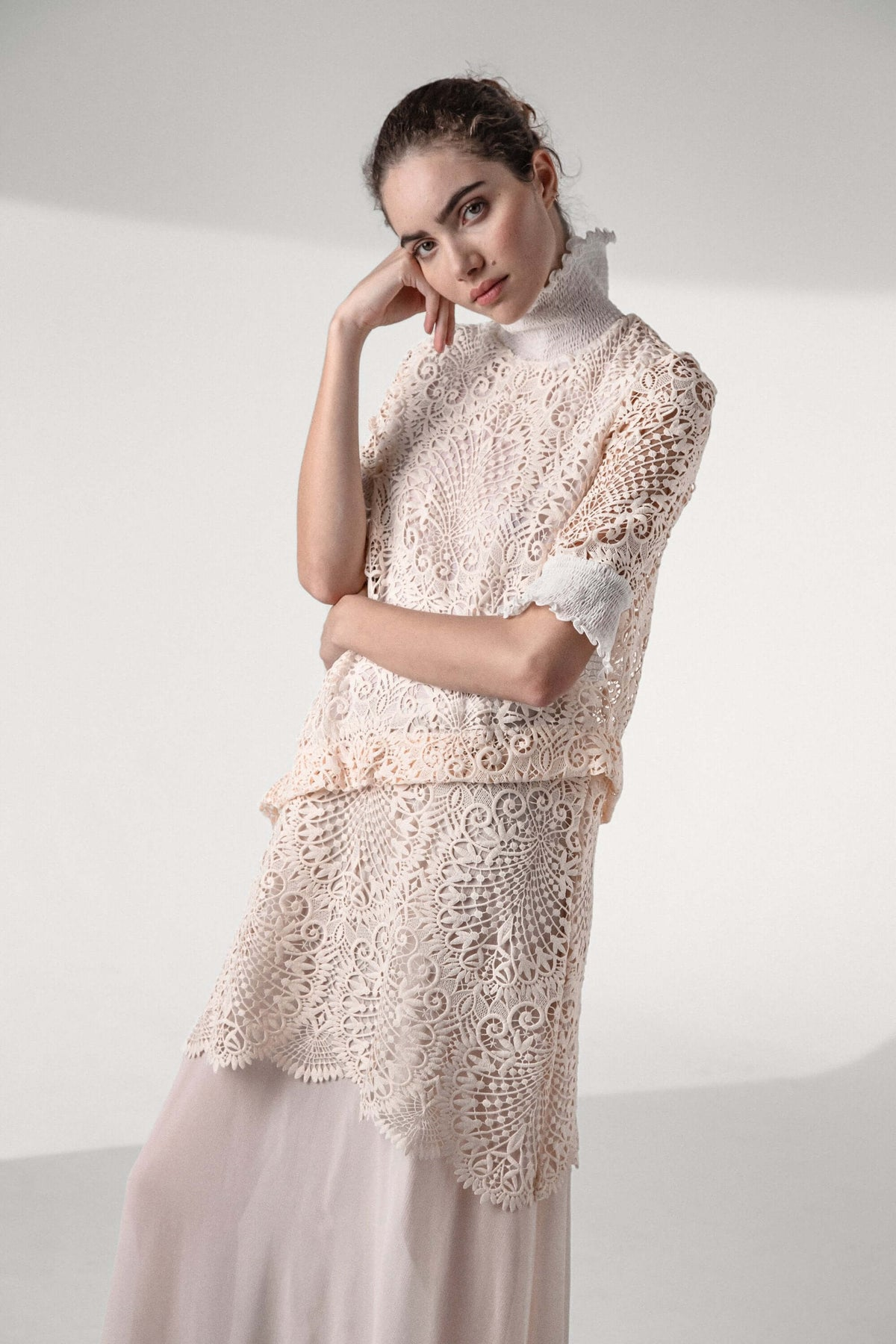 Dries dress in vegetal lace