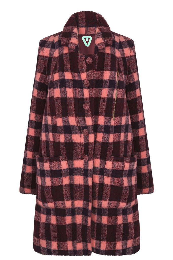 Hallow coat in checked wool