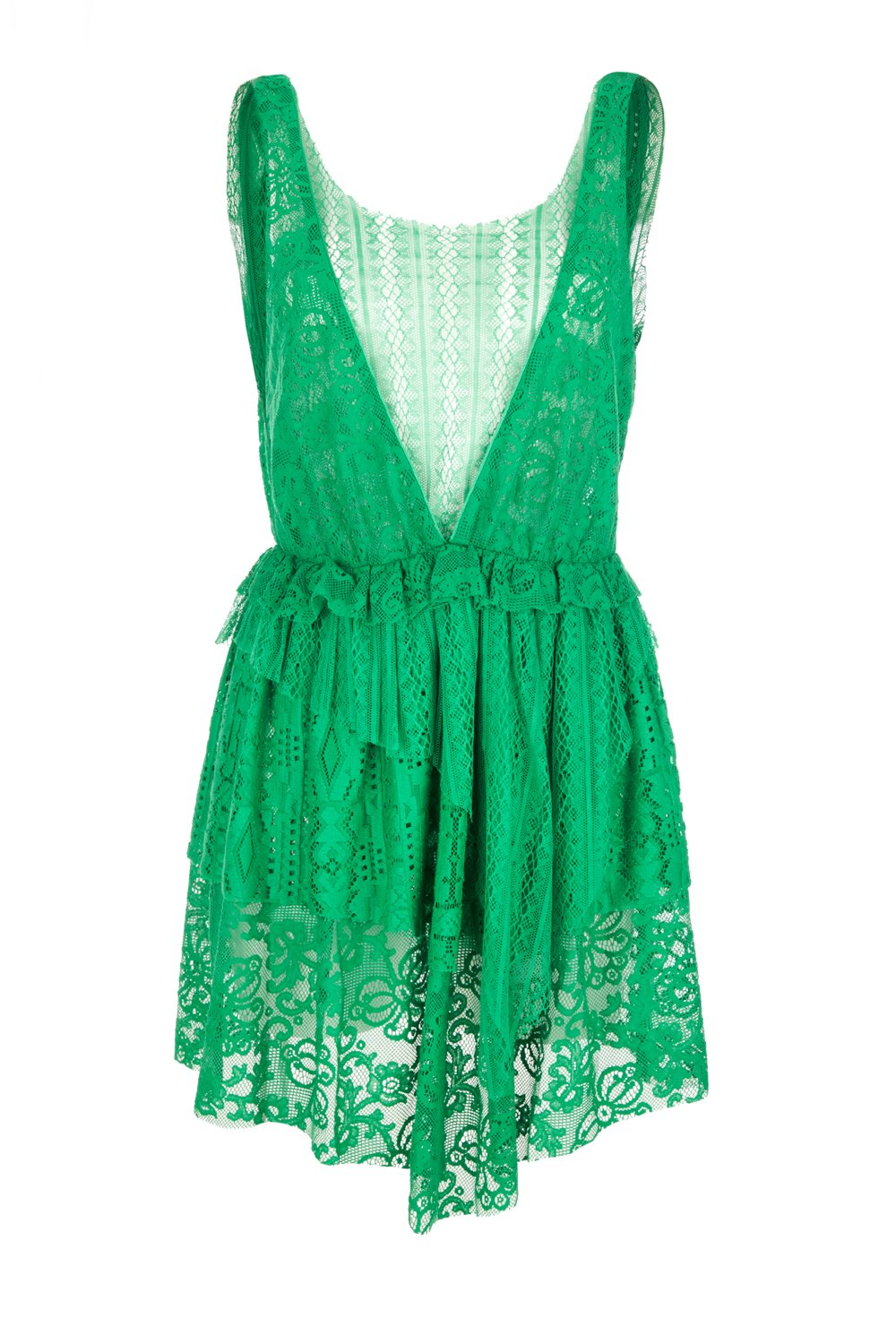 Hercule dress in palm lace