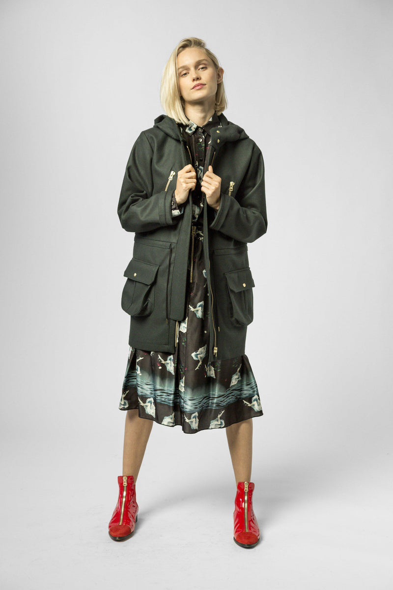 Jacobs parka in abyss cashmere