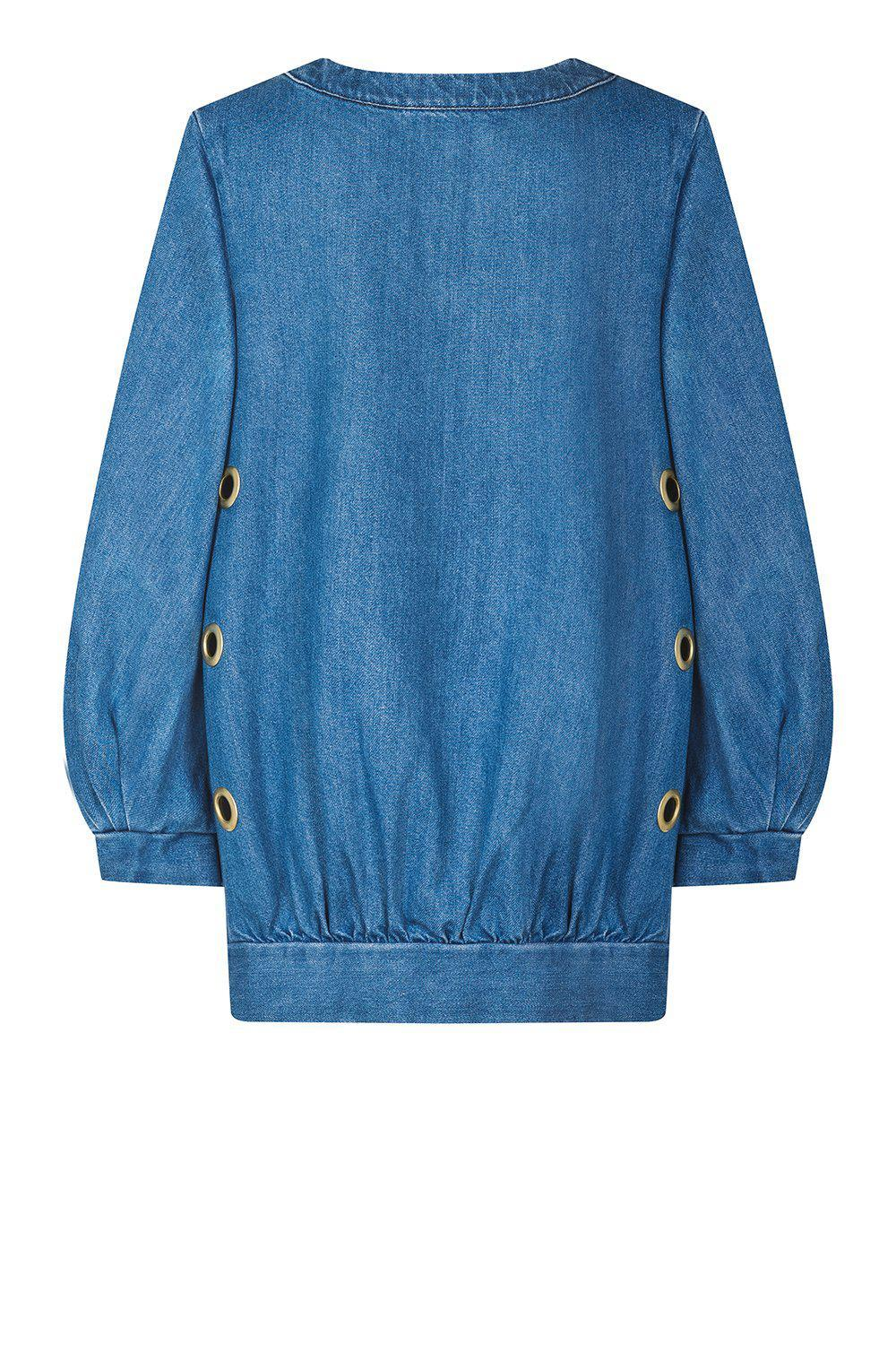Lune sweatshirt in blue denim