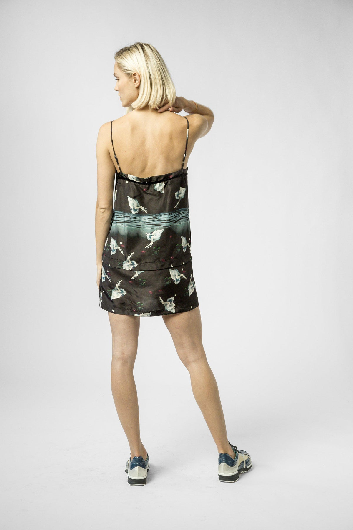Merida dress in underwater print