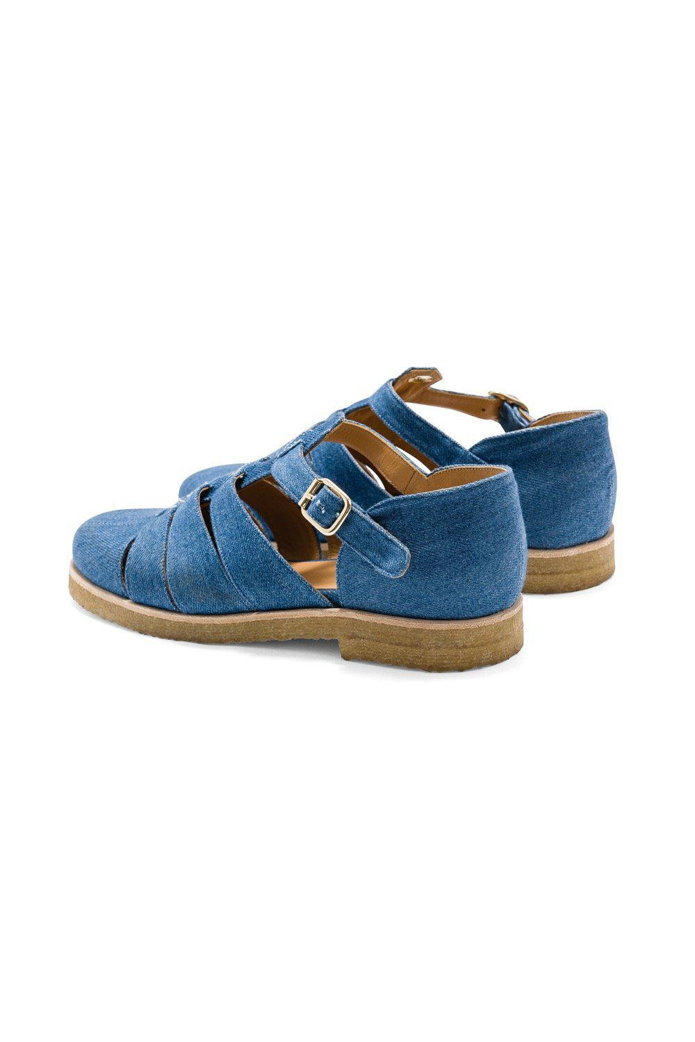 Ricky sandals in blue denim