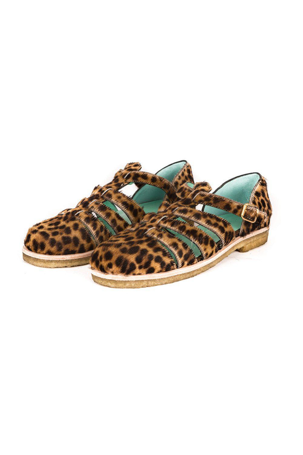 Ricky sandals in leopard printed leather