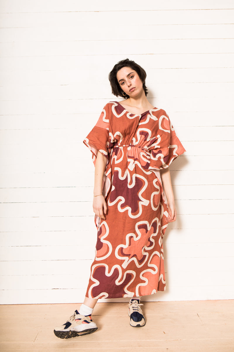 Heimstone x Gabrielle Paris - Dress in XXL leaf print