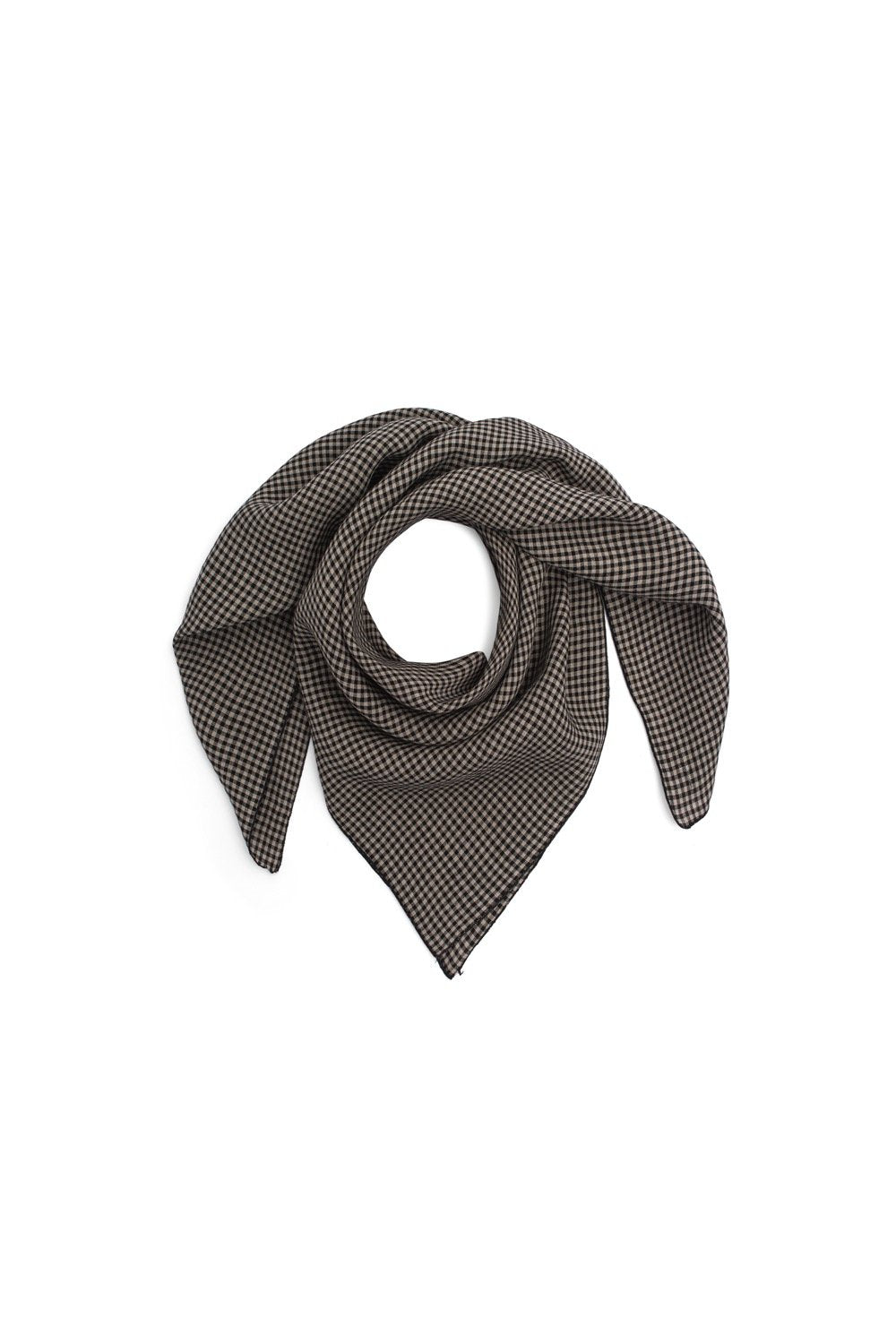 Scarf carré in checkered linen