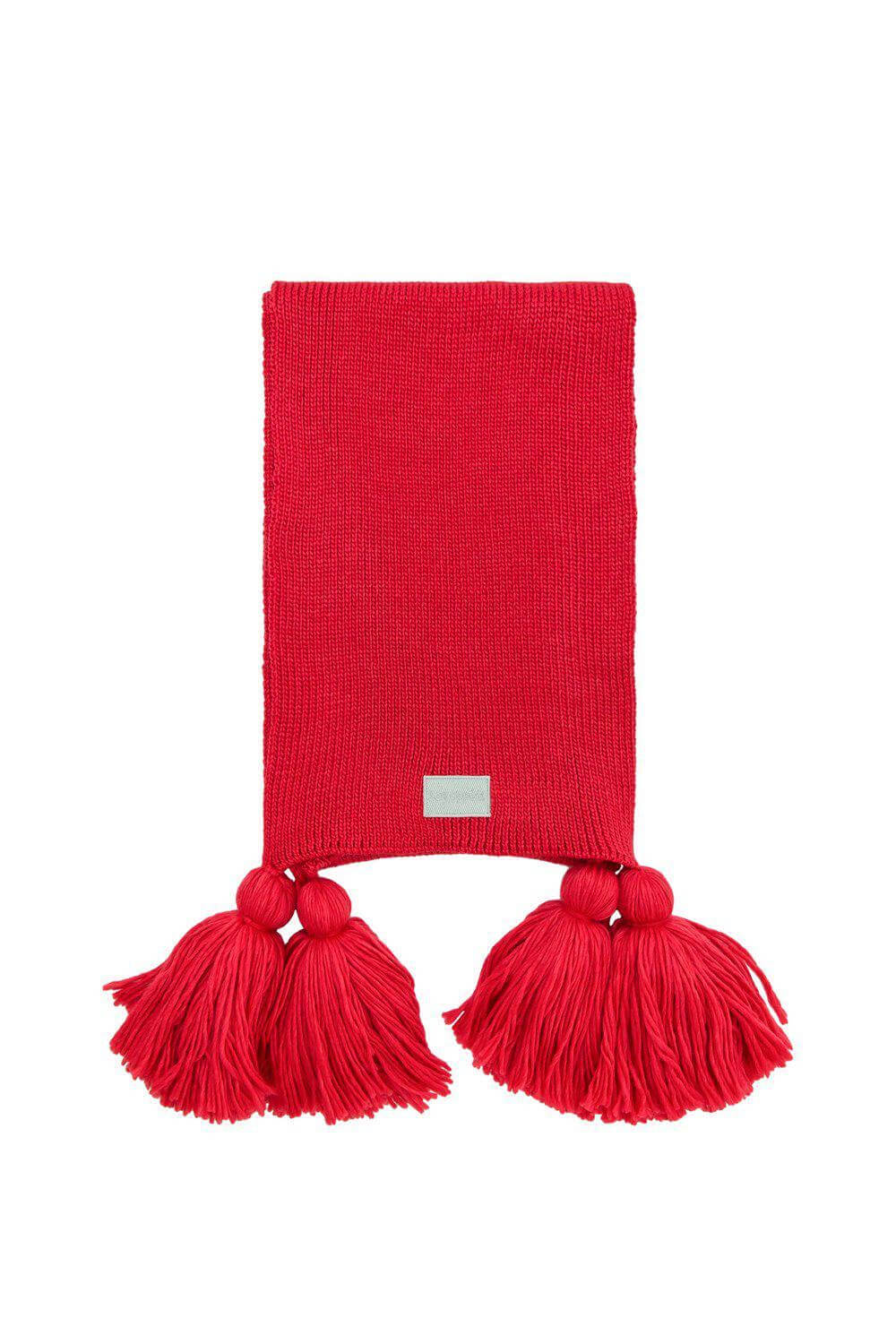 Scarf in red knit